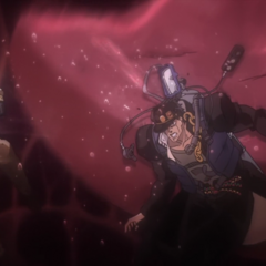 Jotaro gets struck by High Priestess's tongue