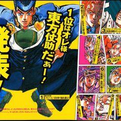 Josuke featured as Araki's favorite character in 2000