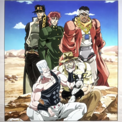 The memorable picture of the Joestar group
