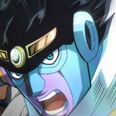 Star Platinum: The World about to throw a punch.