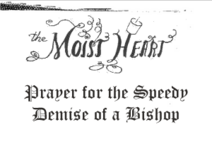 Prayer for the Speedy Demise of a Bishop
