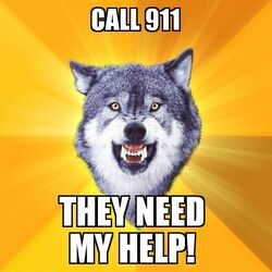 Courage Wolf Call 911
