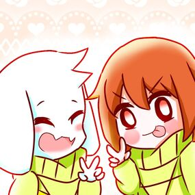 Asriel with Chara