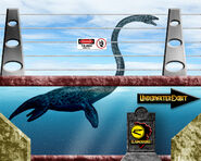 Jurassic Park Elasmosaurus Tank
