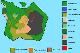 Sorna Wonders Isla Sorna and Tyrannus Map