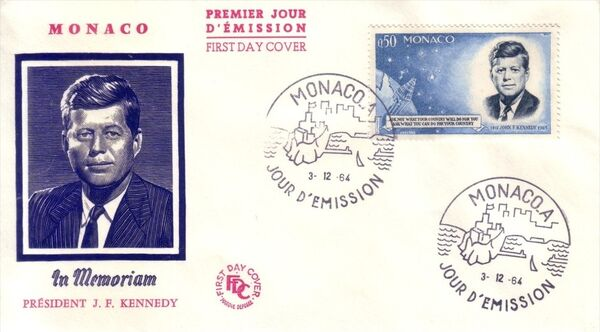 Monaco 1964 Pres. John F. Kennedy and Mercury Capsule c
