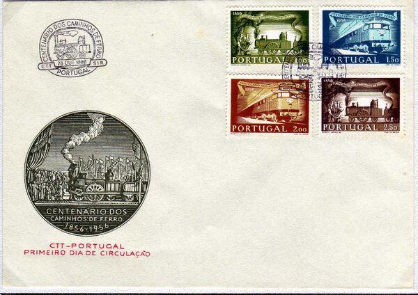 Portugal 1956 Centenary of Portuguese Railways e