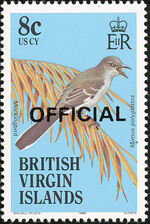 British Virgin Islands 1986 Birds Ovptd. OFFICIAL d