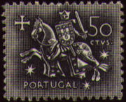Portugal 1953 Definitives - Medieval Knight d