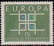 Germany, Federal Republic 1963 Europa a