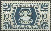 Wallis and Futuna 1944 Ivi Poo Bone Carving in Tiki Design b