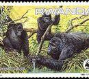 Rwanda 1985 WWF Mountain Gorilla