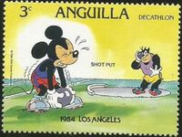 Anguilla 1984 Olympic Games Los Angeles c