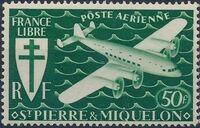 St Pierre et Miquelon 1942 France Libre (Air Post Stamps) f