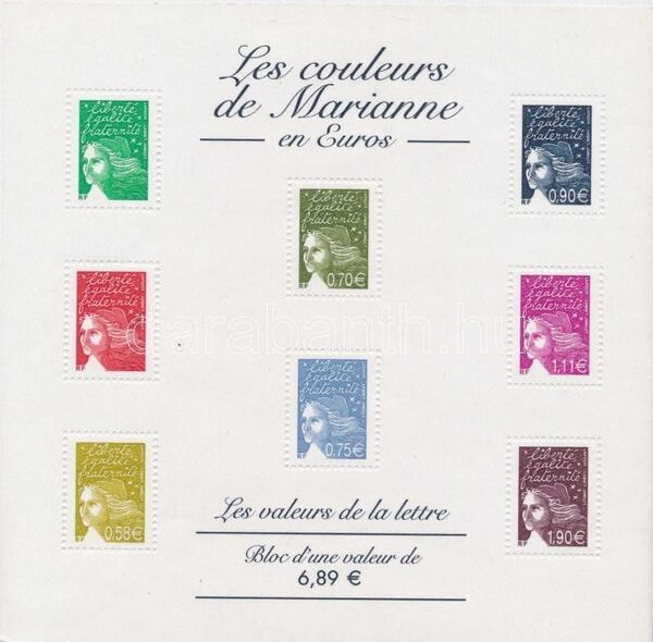 France 2003 Definitive Issue - Marianne de Luquet z
