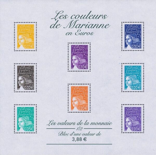 France 2002 Definitive Issue - Marianne de Luquet y