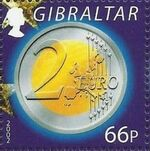 Gibraltar 2002 New coins in Europe h