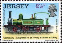 Jersey 1973 Centenary of Jersey Eastern Railway a