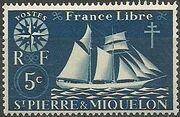 St Pierre et Miquelon 1942 Fishing Schooner St. Malo a