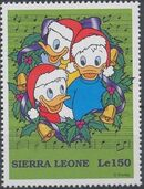 Sierra Leone 1997 Disney Christmas Stamps a