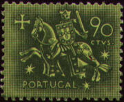 Portugal 1953 Definitives - Medieval Knight f