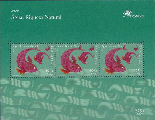 Portugal 2001 EUROPA - Water, natural wealth c