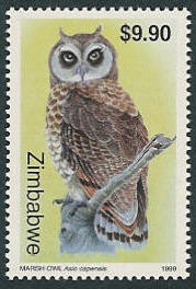 Zimbabwe 1999 Native Owls 3th Issue d