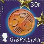 Gibraltar 2002 New coins in Europe c