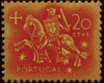 Portugal 1953 Definitives - Medieval Knight c
