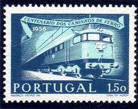 Portugal 1956 Centenary of Portuguese Railways b