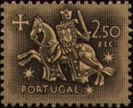 Portugal 1953 Definitives - Medieval Knight l