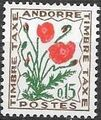 Andorra-French 1964 Flowers - 1st Group (Postage Due Stamps) a.jpg