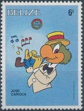 Belize 1986 Christmas - Disney Characters e
