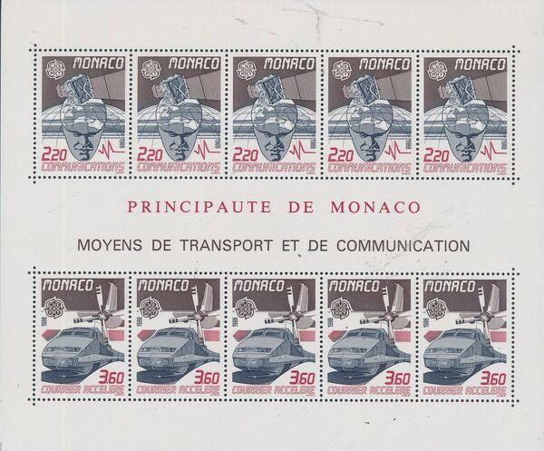 Monaco 1988 EUROPA - Transport and Communications c