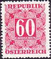 Austria 1950 Postage Due Stamps - Square frame with digit (2nd Group) a.jpg