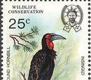 Swaziland 1985 WWF Southern Ground Hornbill (Audubon birth bicentenary)