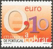 Portugal 2002 Euro Coins (Postage Due Stamps) d