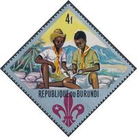 Burundi 1967 60th Anniversary of the Boy Scouts and the 12th Boy Scout World Jamboree e