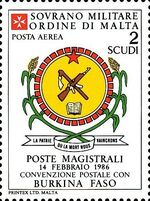 Sovereign Military Order of Malta 1986 Agreements Concluded by The Postal r