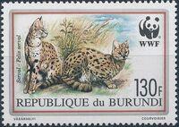Burundi 1992 WWF Leptailurus serval b