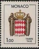 Monaco 1986 National Coat of Arms - Postage Due Stamps (2nd Group) b