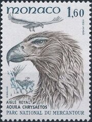 Monaco 1982 Birds from Mercantour National Park f