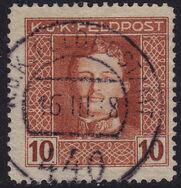 Austria 1917-1918 Emperor Karl I (Military Stamps) f