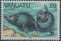 Vanuatu 1988 WWF Dugong c