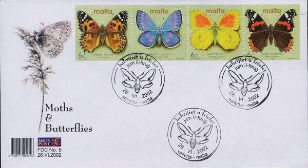 Malta 2002 Butterflies and Moths ab