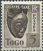 Togo 1941 Postage Due a