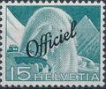 Switzerland 1950 Engineering - Switzerland Postage Stamps of 1949 Overprinted Officiel d.jpg