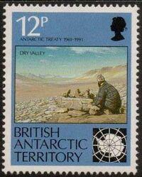 British Antarctic Territory 1991 30th Anniversary Antarctic Treaty a