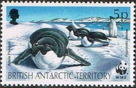 British Antarctic Territory 1992 WWF Seals and Penguins b