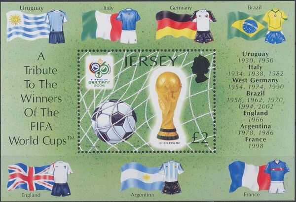 Jersey 2006 Football - A Tribute To The Winners Of The FIFA World Cups g